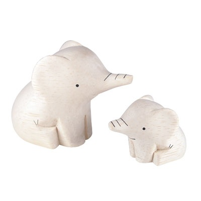 T-LAB [LOT01] POLEPOLE MOM&BABY ELEPHANT