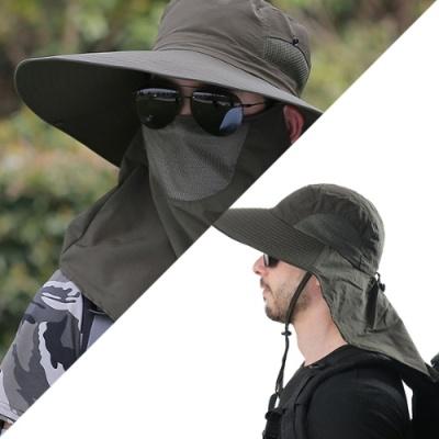뒷목까지 서늘한 그늘막 모자