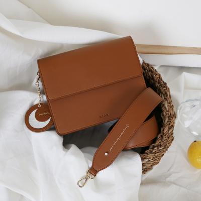 (달거울 증정/탄생석) Two way Bag (M) - Brown