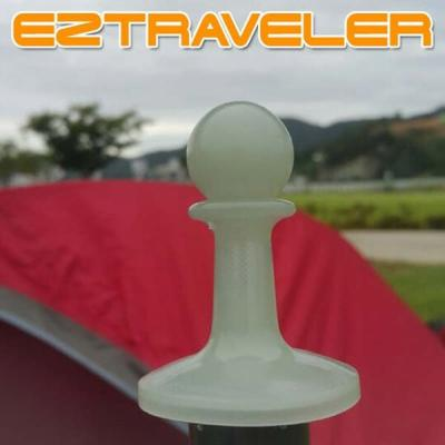 [이지트래블러] 타프폴대캡 4개세트 야광폴대마개