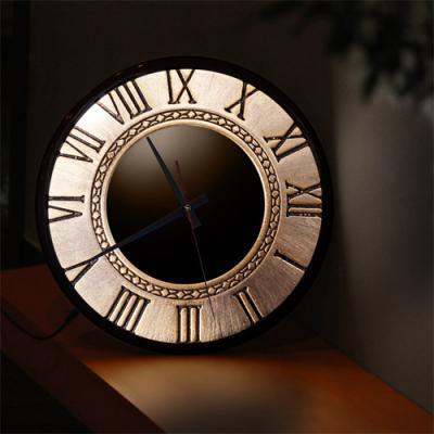 nf168-LED시계액자35R_엔티크스타일벽시계03