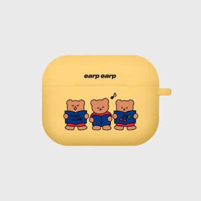 Music song bear-yellow(Air pods pro case)