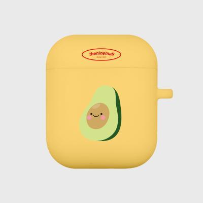 happy avocado 에어팟 케이스[yellow]