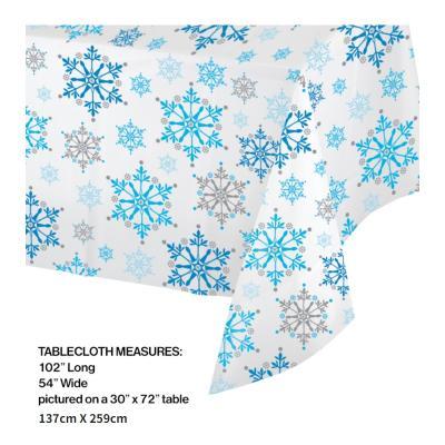 [빛나파티]겨울왕국 비닐 테이블커버 Snowflake