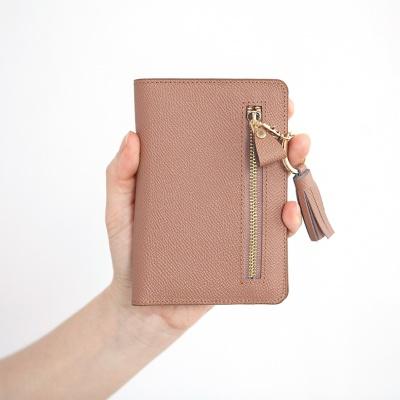 리얼레더 클래식 짚 여권커버
