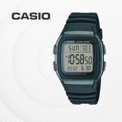 카시오 군인 군용 전자 남성 손목시계 W-96H-1B
