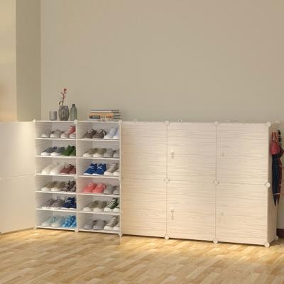 DIY 원목무늬 신발장(204x94cm) 현관신발장