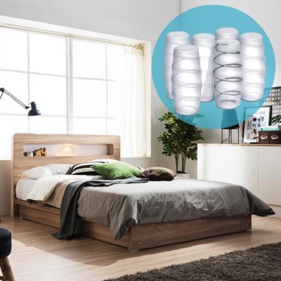 보루네오하우스 모닝듀 LED조명 평상형 침대 킹 (포켓스프링매트) DM030K