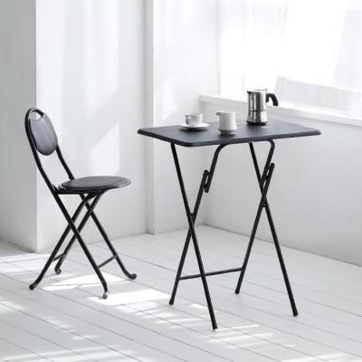 [스크래치] black 접이식 테이블 604 - 사각