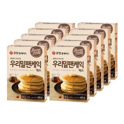 (10개입)큐원 우리밀 팬케익믹스 한박스 (프라이팬용)