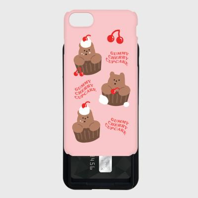gummy cherry cupcake 카드슬라이드 케이스