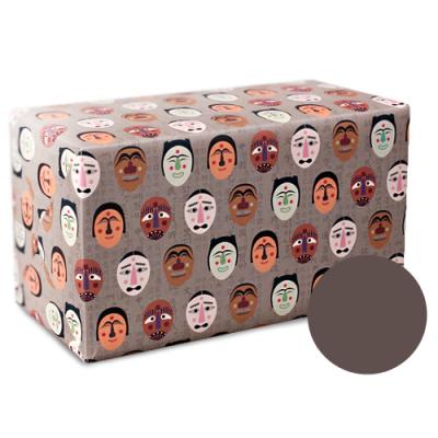 한국전통 탈 포장지(2장)