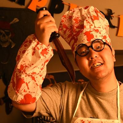 피범벅 요리사모자+토시세트