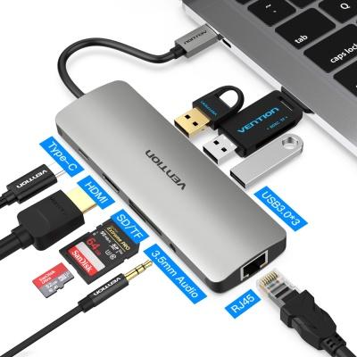 벤션 9in1 C타입 멀티포트 허브 HDMI 랜 도킹스테이션 CGNHA