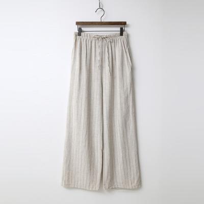 Linen Stripe Wide Pants