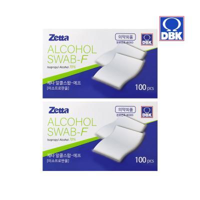 [제타]소독용 알콜 스왑 100매입 2개