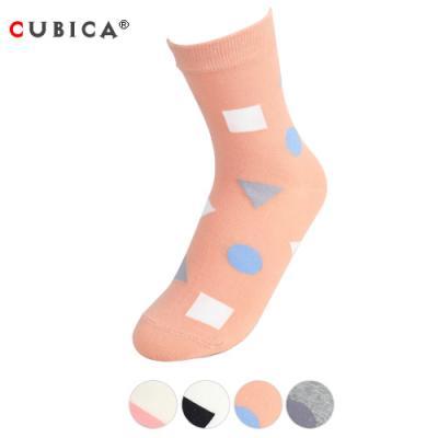 [쿠비카]패션 도형 중목 여성양말 CAS-SCS053