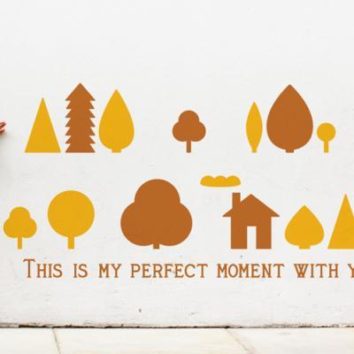 디자인베이 작은숲 (완제품A타입) 숲그림스티커