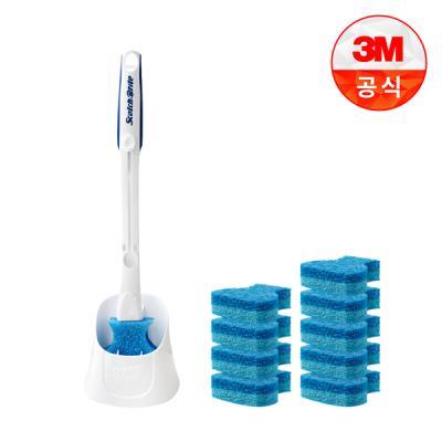 [3M]크린스틱 더블액션 변기청소 핸들+캐디+리필 10입