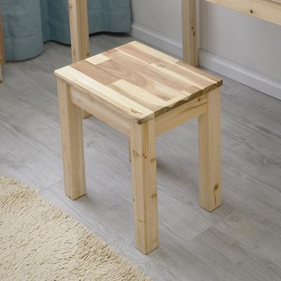 원목 1인벤치 스툴 의자(아카시아)