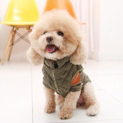 강아지겨울옷 심플누빔패딩