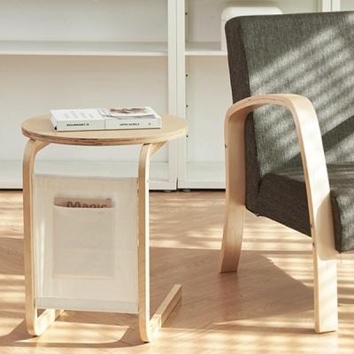 히토리 원목 포켓 사이드 테이블