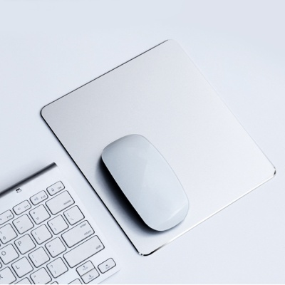디자인 알루미늄 마우스패드(24x20cm) (실버)