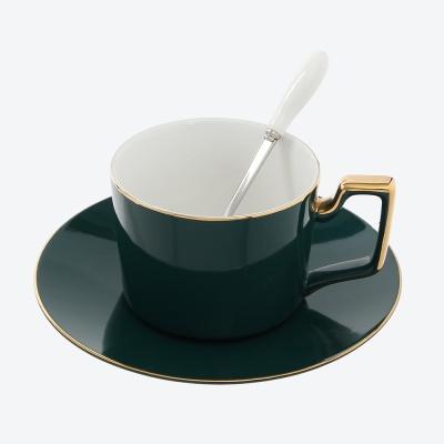 로열트리 모던 커피잔 세트(220ml) (그린) (쇼핑백포