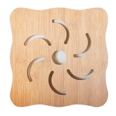 대나무 실용성 디자인 주방용 냄비 받침