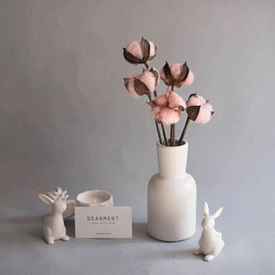 [디어먼트] 핑크 목화솜 화병세트