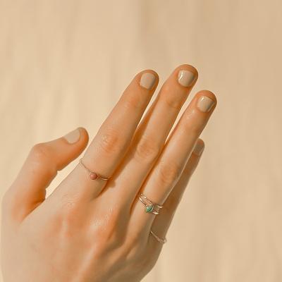 i_r19 - rose & sky layered ring