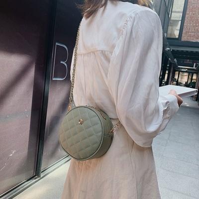 플라워 포인트 체인 크로스 탬버린백 여성 미니 가방