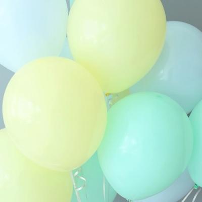 천장장식 마카롱풍선(헬륨효과)세트-레몬캔디