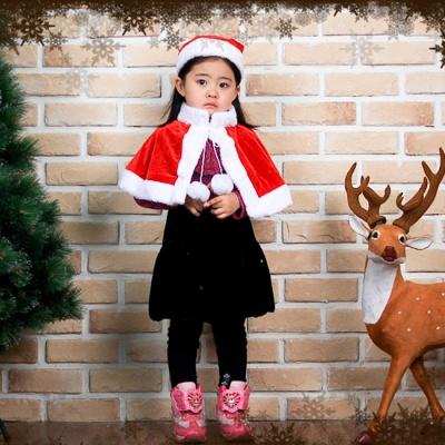 크리스마스 망토 모자 세트(유아용)
