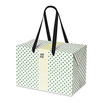 PLUSBOX GIFT BAG (Green Polka Dot) (쇼핑백/포장박스)
