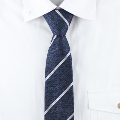 스트라이프 네이비 자동 넥타이 N513