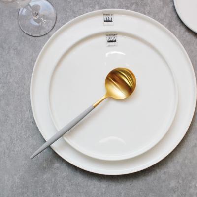 [큐티폴] 고아 라이트그레이골드 테이블 스푼