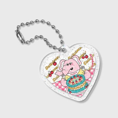 Heart kkikki cherry cake(글리터키링)
