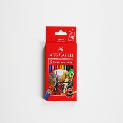 파버카스텔 일반색연필 12색 미니/ 지관/ 115851