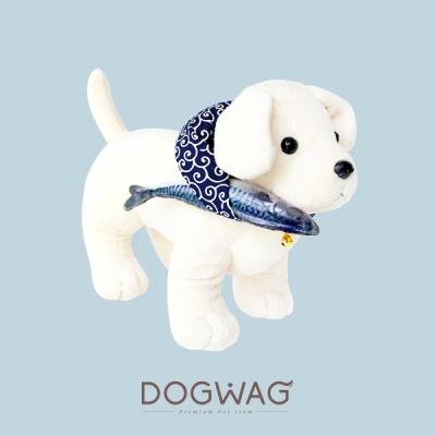[도그웨그 DOGWAG] 강아지&고양이 당초무늬 생선보따리 세트