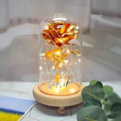 커스텀레터 황금장미 유리돔 글라스돔 선물