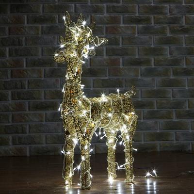 50cm LED 골드 반짝이 사슴 장식(소)65015-60262