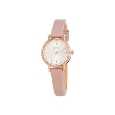 트윙클 스테이지 시계 화이트 핑크 W211LWWP