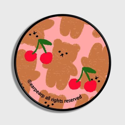 Dot cherry big bear-pink(스마트톡)