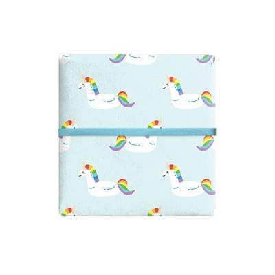 민트 유니콘 포장지 (2장)