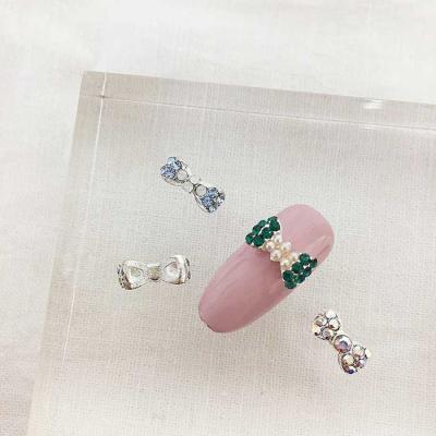 Woman bonita nail parts 큐티리본 1개 3color
