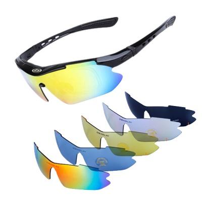 카라라 5가지 렌즈 러닝 자전거 스포츠 고글 선글라스