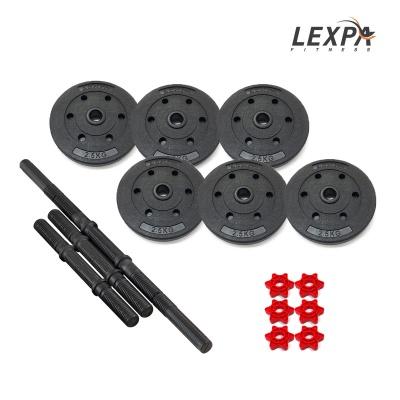 [렉스파]PVC 덤벨세트 YA-1137(19kg)