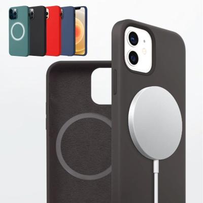 아이폰 맥세이프 12/미니/pro max 컬러 실리콘 케이스