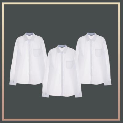 [빅사이즈]남성 밝은 블루 프리미엄 셔츠 3pcs 패키지